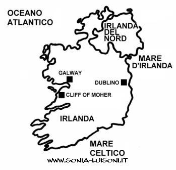 Cartina Irlanda Da Colorare.Irlanda