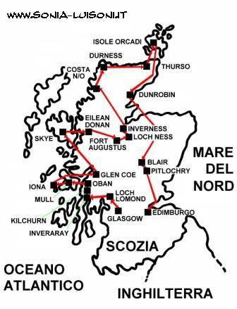 Cartina Inghilterra E Scozia.Scozia