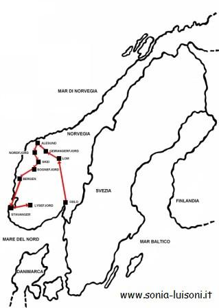 La Norvegia Cartina.Norvegia
